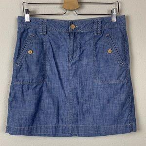 Ann Taylor LOFT Chambray Mini Skirt